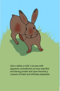 Rabbit with Ursula K. LeGuin Quote