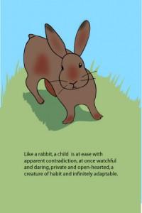Rabbit with Ursula K. LeGuin Quote