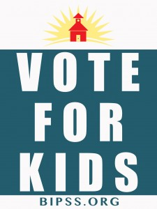 Yard sign for school levy campaign