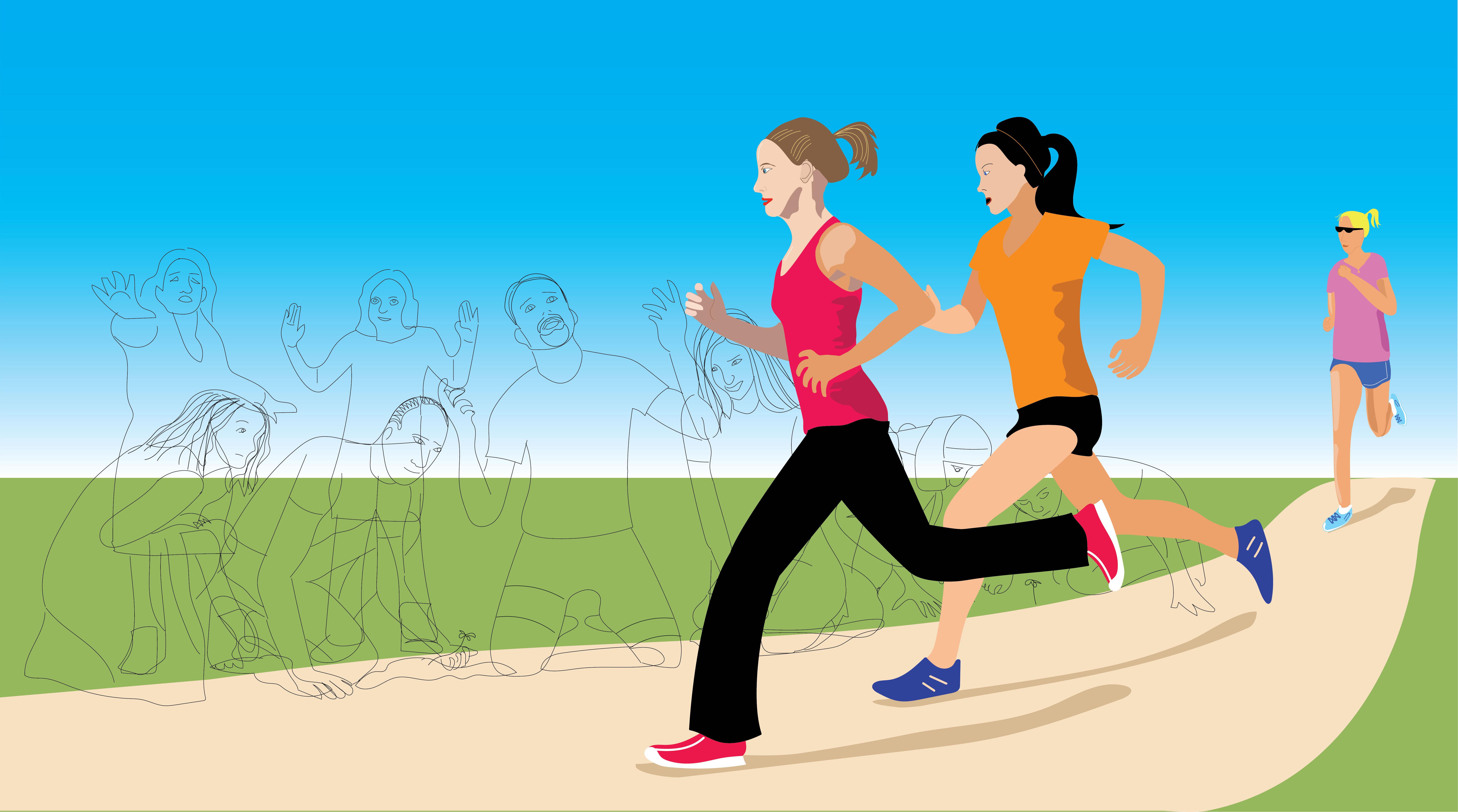 White Women Running
